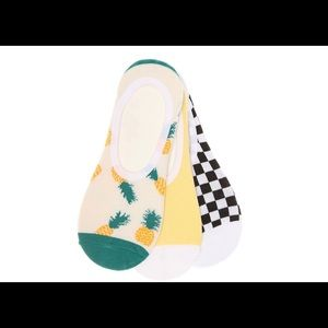 Vans pineapple women's no show liners - 3 pack